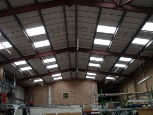 All 30 indusrial rooflights replaced